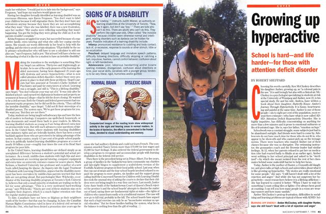 Article Preview: Growing up hyperactive, September 1998 | Maclean's