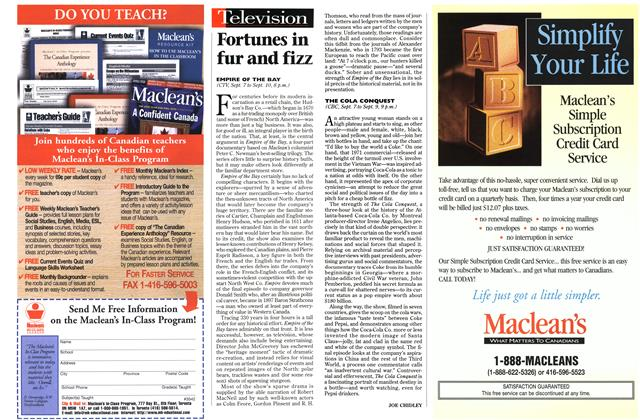 Article Preview: Fortunes in fur and fizz, September 1998 | Maclean's