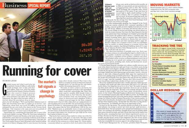 Article Preview: Running for cover, September 1998   Maclean's