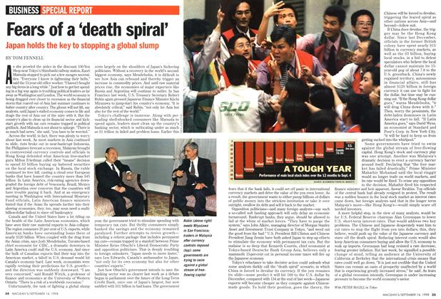Article Preview: Fears of a 'death spiral', September 1998 | Maclean's