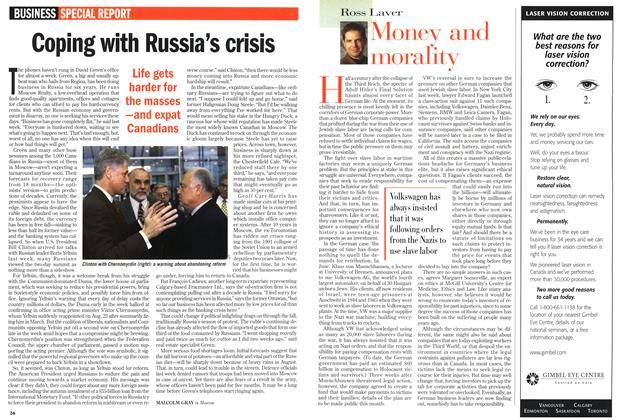 Article Preview: Coping with Russia's crisis, September 1998 | Maclean's