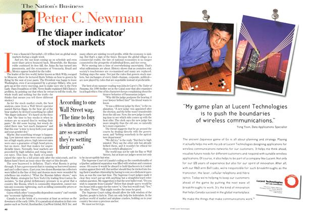 Article Preview: The 'diaper indicator' of stock markets, September 1998 | Maclean's
