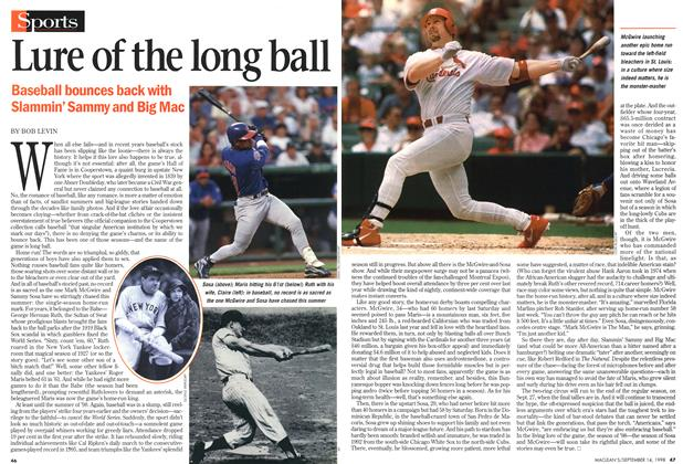 Article Preview: Lure of the long ball, September 1998 | Maclean's