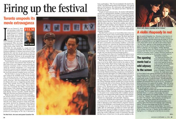 Article Preview: Firing up the festival, September 1998 | Maclean's