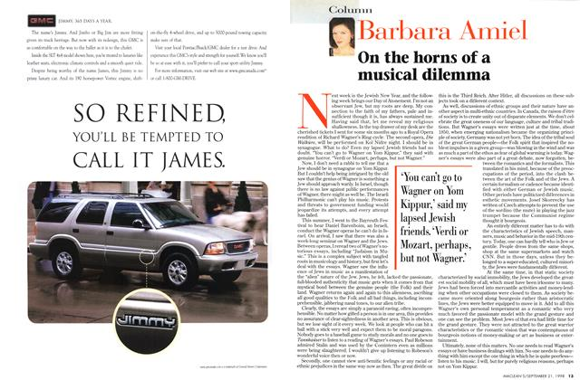Article Preview: On the horns of a musical dilemma, September 1998 | Maclean's