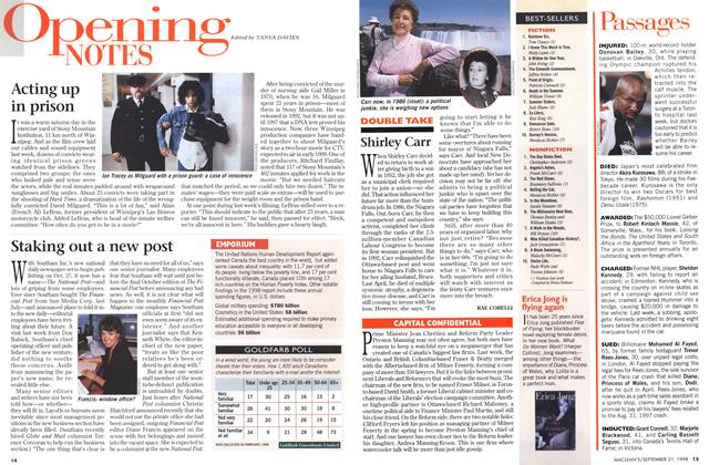 Article Preview: Opening NOTES, September 1998 | Maclean's