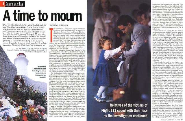 Article Preview: A time to mourn, September 1998 | Maclean's