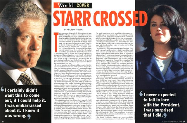 Article Preview: STARR CROSSED, September 1998 | Maclean's