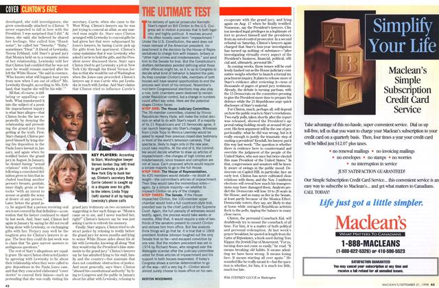 Article Preview: THE ULTIMATE TEST, September 1998 | Maclean's
