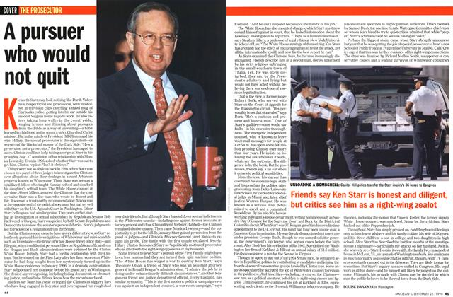 Article Preview: A pursuer who would not quit, September 1998 | Maclean's