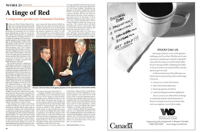 Article Preview: A tinge of Red, September 1998   Maclean's