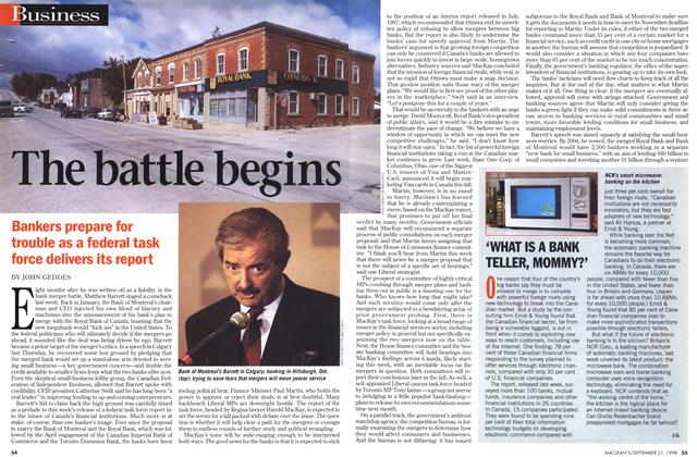 Article Preview: The battle beings, September 1998 | Maclean's