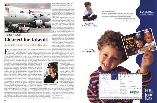 Article Preview: Cleared for takeoff, September 1998 | Maclean's