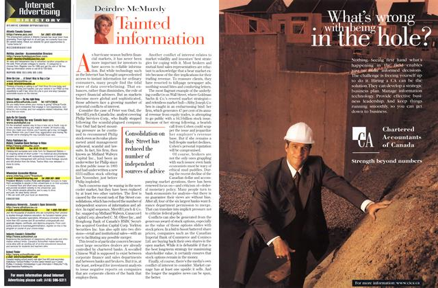 Article Preview: Tainted information, September 1998 | Maclean's