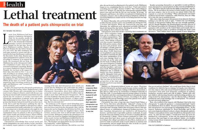 Article Preview: Lethal treatment, September 1998 | Maclean's