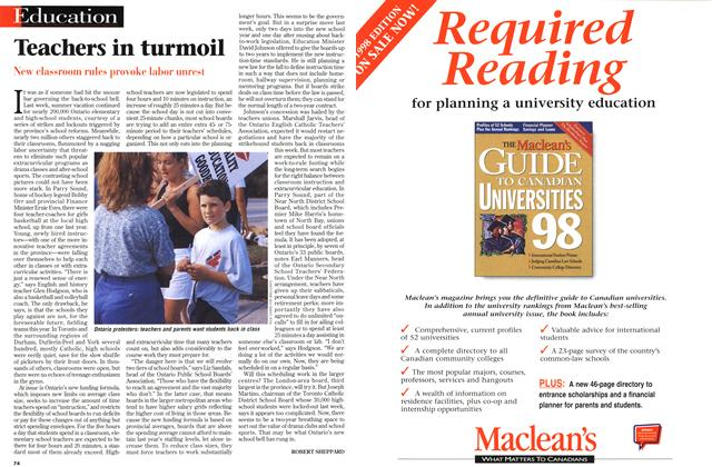 Article Preview: Teachers in turmoil, September 1998 | Maclean's