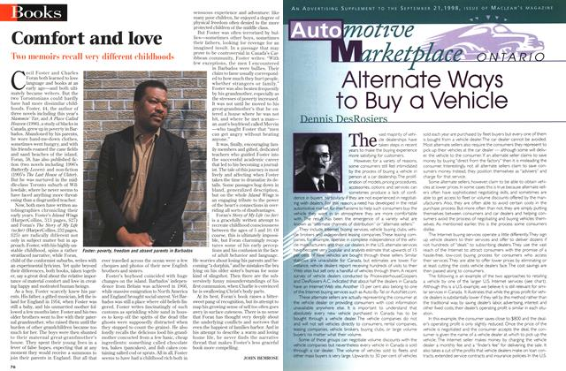 Article Preview: Comfort and love, September 1998 | Maclean's