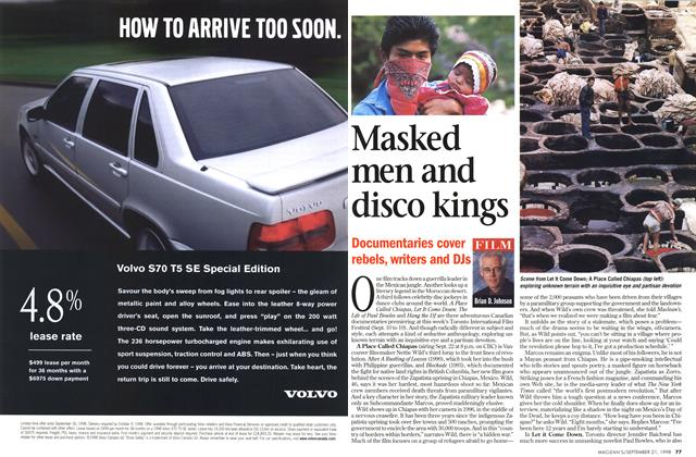 Article Preview: Masked men and disco kings, September 1998 | Maclean's