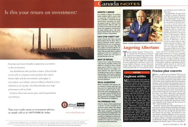 Article Preview: Canada NOTES, September 1998 | Maclean's
