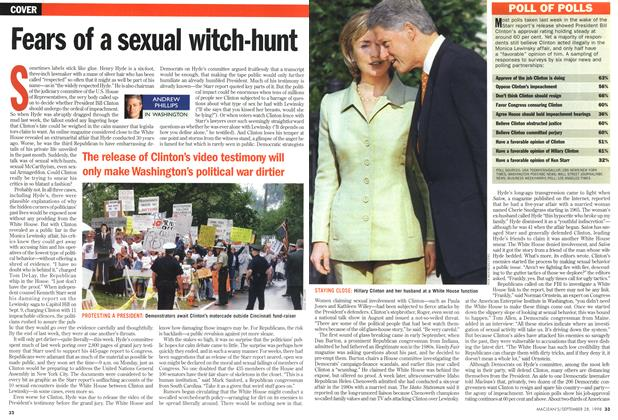 Article Preview: Fears of a sexual witch-hunt, September 1998 | Maclean's