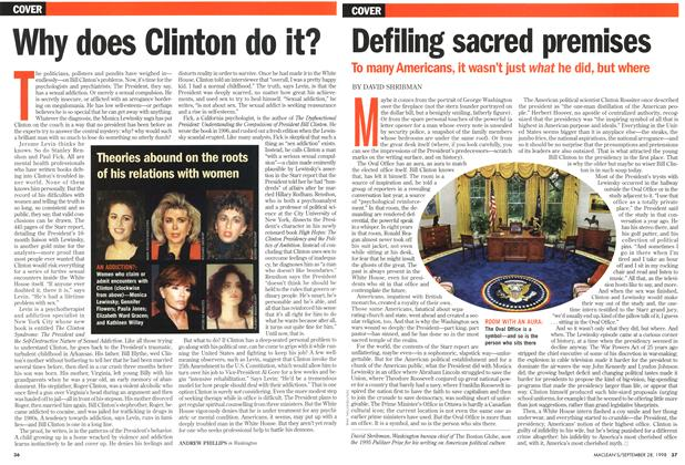 Article Preview: Why does Clinton do it?, September 1998 | Maclean's