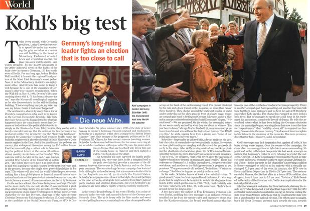 Article Preview: Kohl's big test, September 1998 | Maclean's