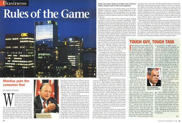 Article Preview: Rules of the Game, September 1998 | Maclean's