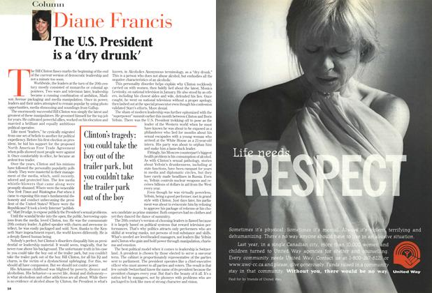Article Preview: The U.S. President is a 'dry drunk', September 1998 | Maclean's