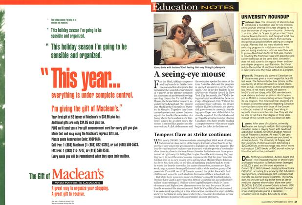 Article Preview: Education NOTES, September 1998 | Maclean's