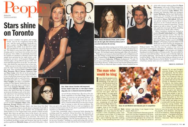 Article Preview: Stars shine on Toronto, September 1998 | Maclean's
