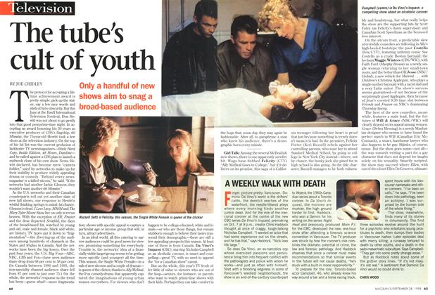 Article Preview: The tube's cult of youth, September 1998 | Maclean's