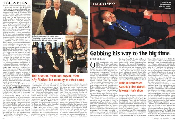 Article Preview: Gabbing his way to the big time, September 1998 | Maclean's