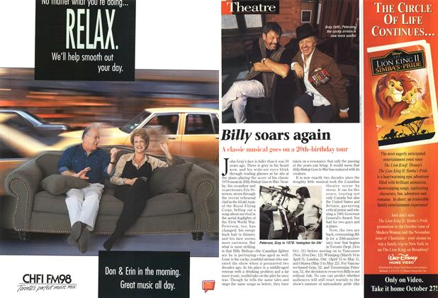 Article Preview: Billy soars again, September 1998 | Maclean's