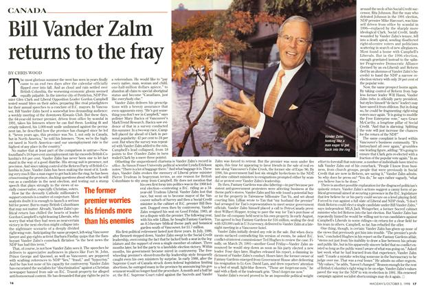 Article Preview: Bill Vander Zalm returns to the fray, October 1998 | Maclean's