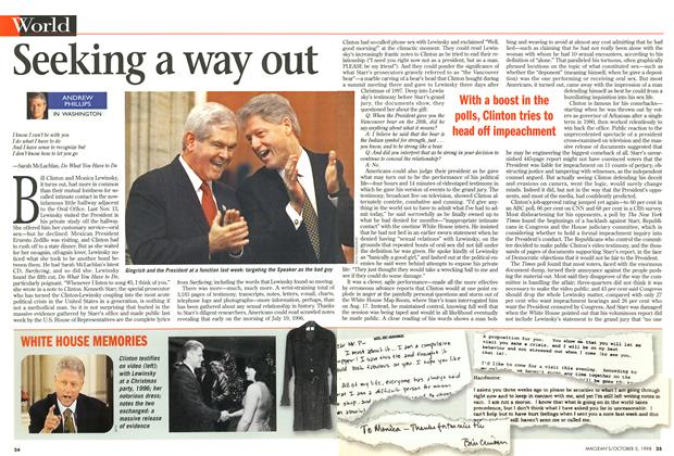 Article Preview: Seeking a way out, October 1998 | Maclean's