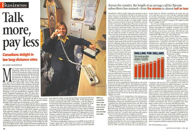 Article Preview: Talk more, pay less, October 1998 | Maclean's