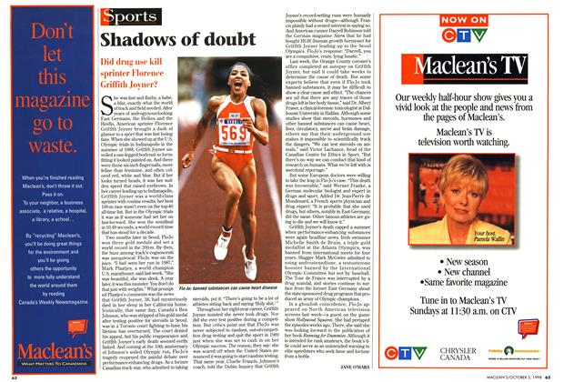 Article Preview: Shadows of doubt, October 1998 | Maclean's