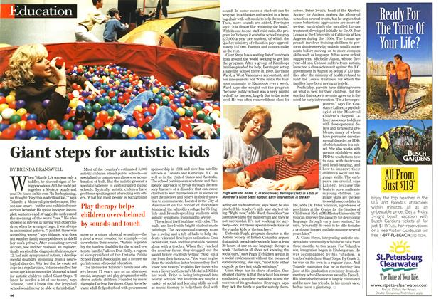 Article Preview: Giant steps for autistic kids, October 1998 | Maclean's