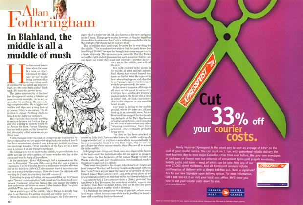 Article Preview: In Blahland, the middle is all a muddle of mush, October 1998 | Maclean's