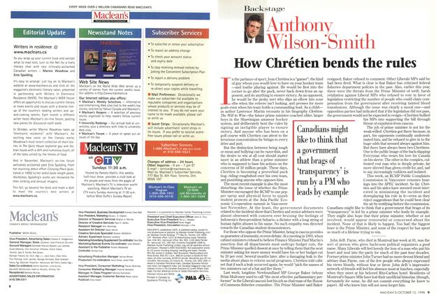Article Preview: How Chrétien bends the rules, October 1998 | Maclean's