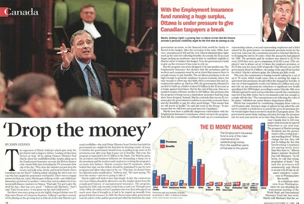 Article Preview: 'Drop the money', October 1998 | Maclean's