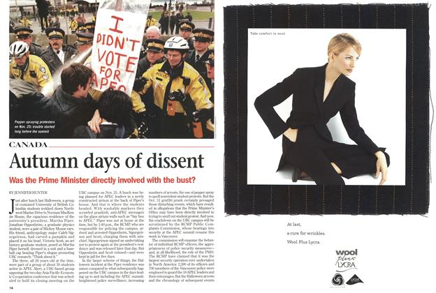 Article Preview: Autumn days of dissent, October 1998 | Maclean's