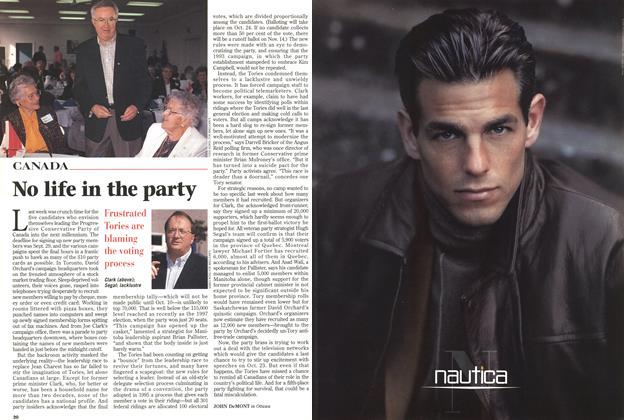 Article Preview: No life in the party, October 1998 | Maclean's