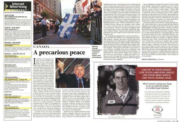 Article Preview: A precarious peace, October 1998 | Maclean's