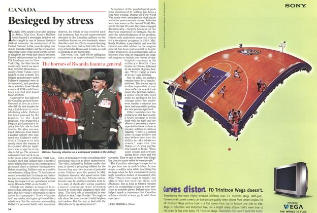 Article Preview: Besieged by stress, October 1998 | Maclean's