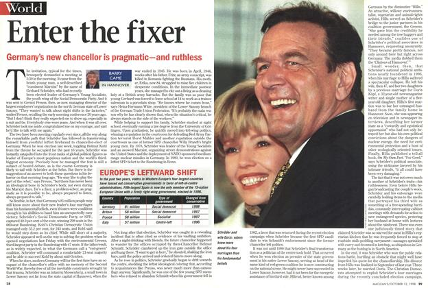 Article Preview: Enter the fixer, October 1998 | Maclean's