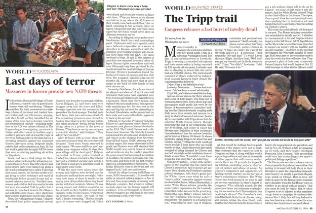 Article Preview: Last days of terror, October 1998 | Maclean's