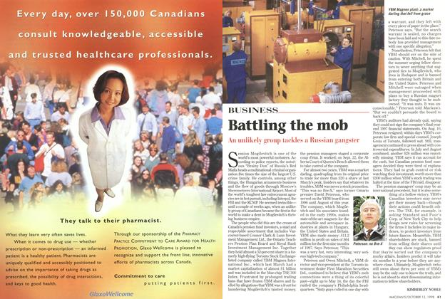 Article Preview: Battling the mob, October 1998 | Maclean's