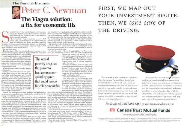Article Preview: The Viagra solution: a fix for economic ills, October 1998   Maclean's