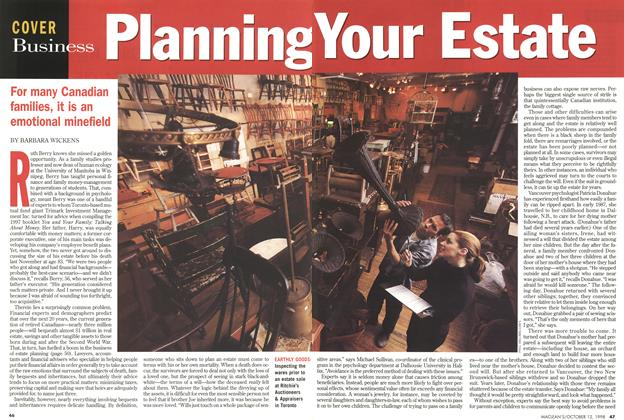 Article Preview: Planning Your Estate, October 1998 | Maclean's